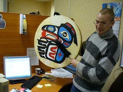 Евгений Летов с SEO-бубном, 2006 года