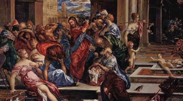 Изгнание торговцев из храма © Greco El