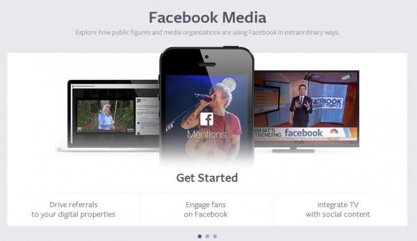 Скриншот Facebook Media